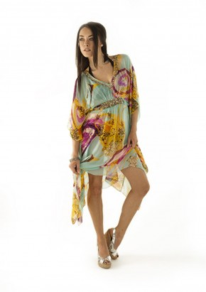 """V"" NECK EMBELISHED KAFTAN"