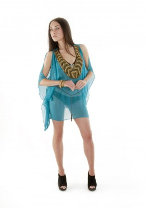 FLOWING KAFTAN WITH HEAVY EMBELLISHMENT